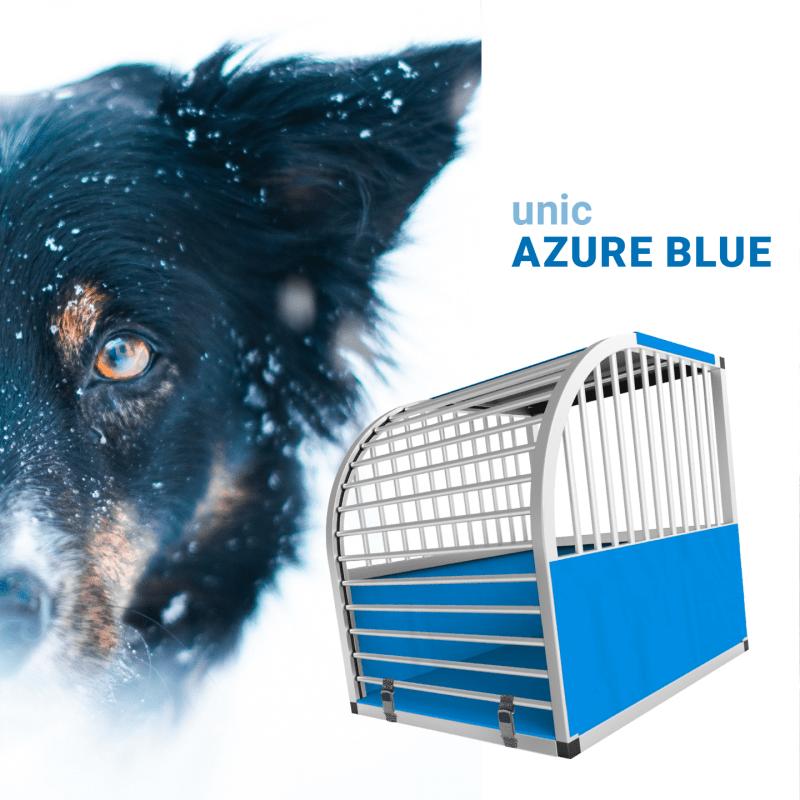 unic Hundebox Small mit Schloss, blau