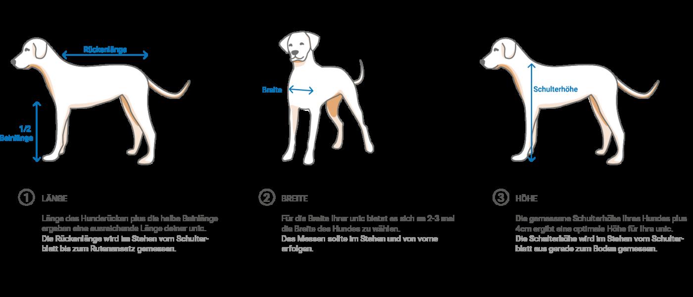 unic Messanleitung - Hund abmessen