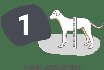 unic Messanleitung - Schritt 3: Hund abmessen