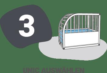 unic Messanleitung - Schritt 3: unic auswählen