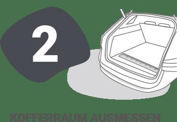 unic Messanleitung - Schritt 2: Kofferraum ausmessen