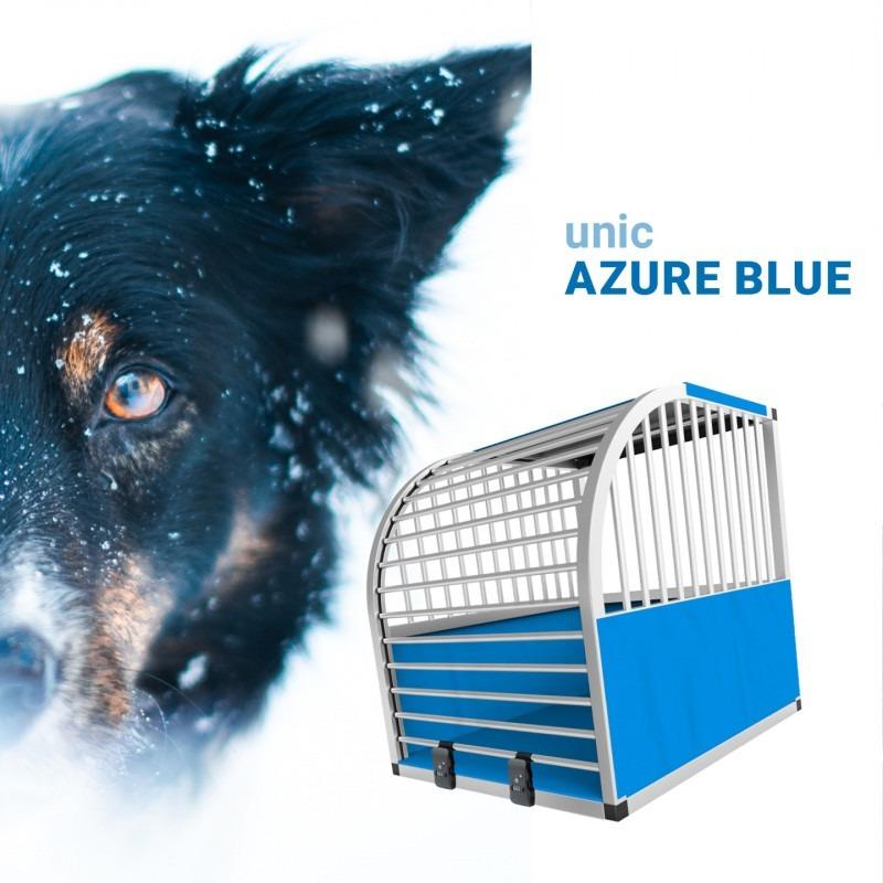 unic Hundebox Medium und Large mit Schloss, blau