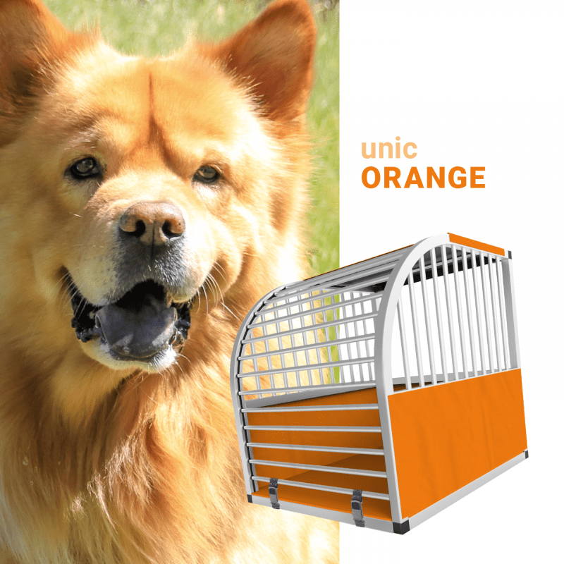 unic Hundebox Medium und Large mit Schloss, orange