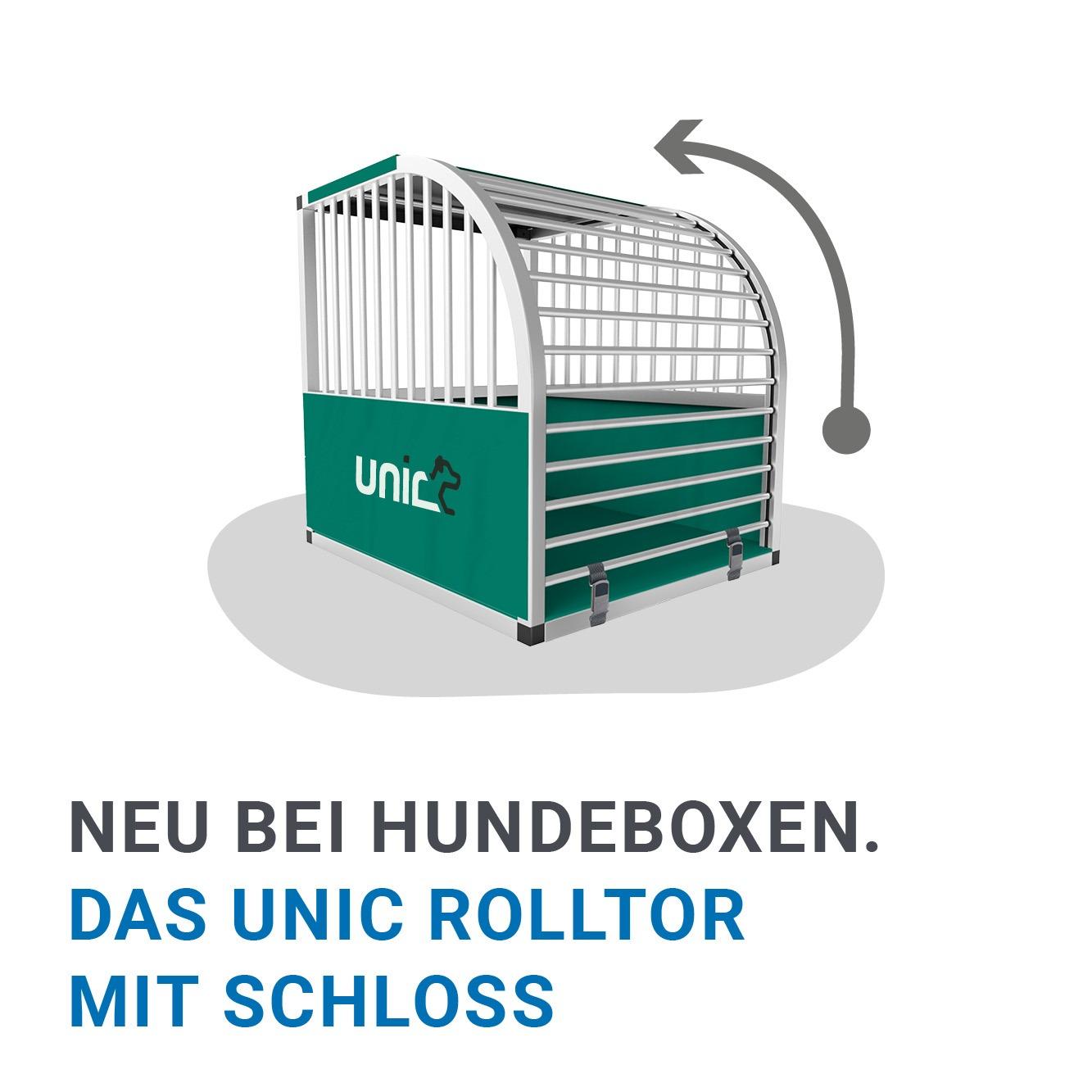 unic Vorteil 1 - Die Alu Hundeboxen haben ein einzigartiges Rolltor-System