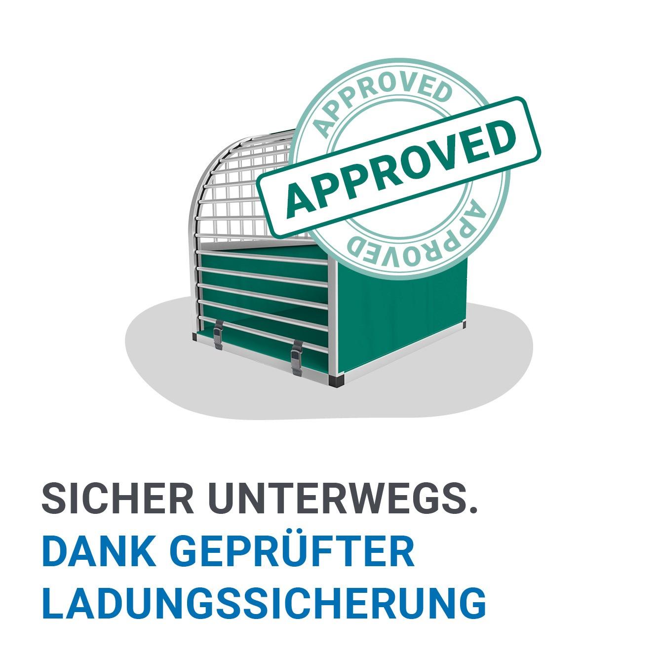 unic Vorteil 8 - Die Alu Hundeboxen sind zur Ladungssicherung zertifiziert