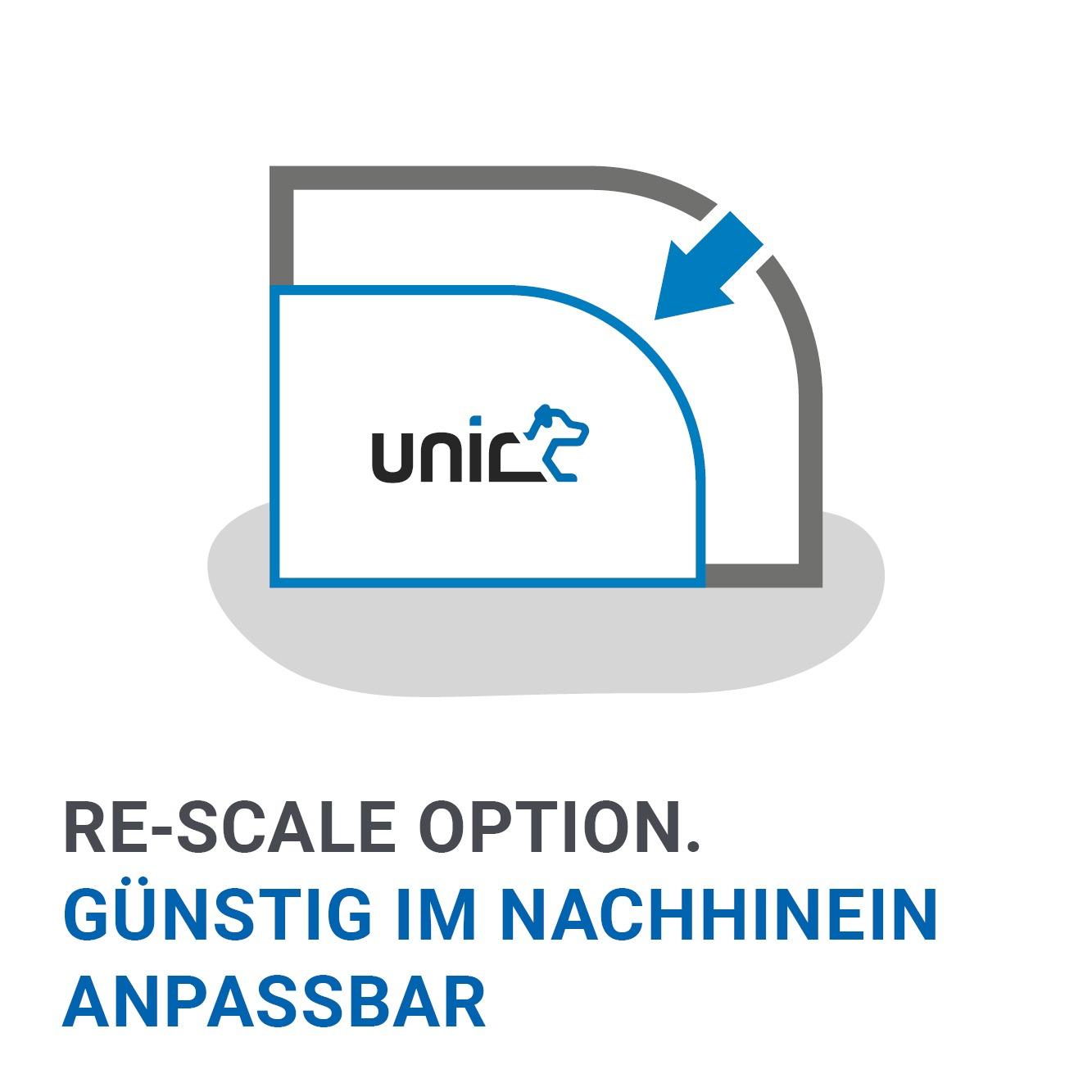 unic Vorteil 9 - Die Alu Hundeboxen können mit unic Re-Scale im Nachhinein angepasst werden